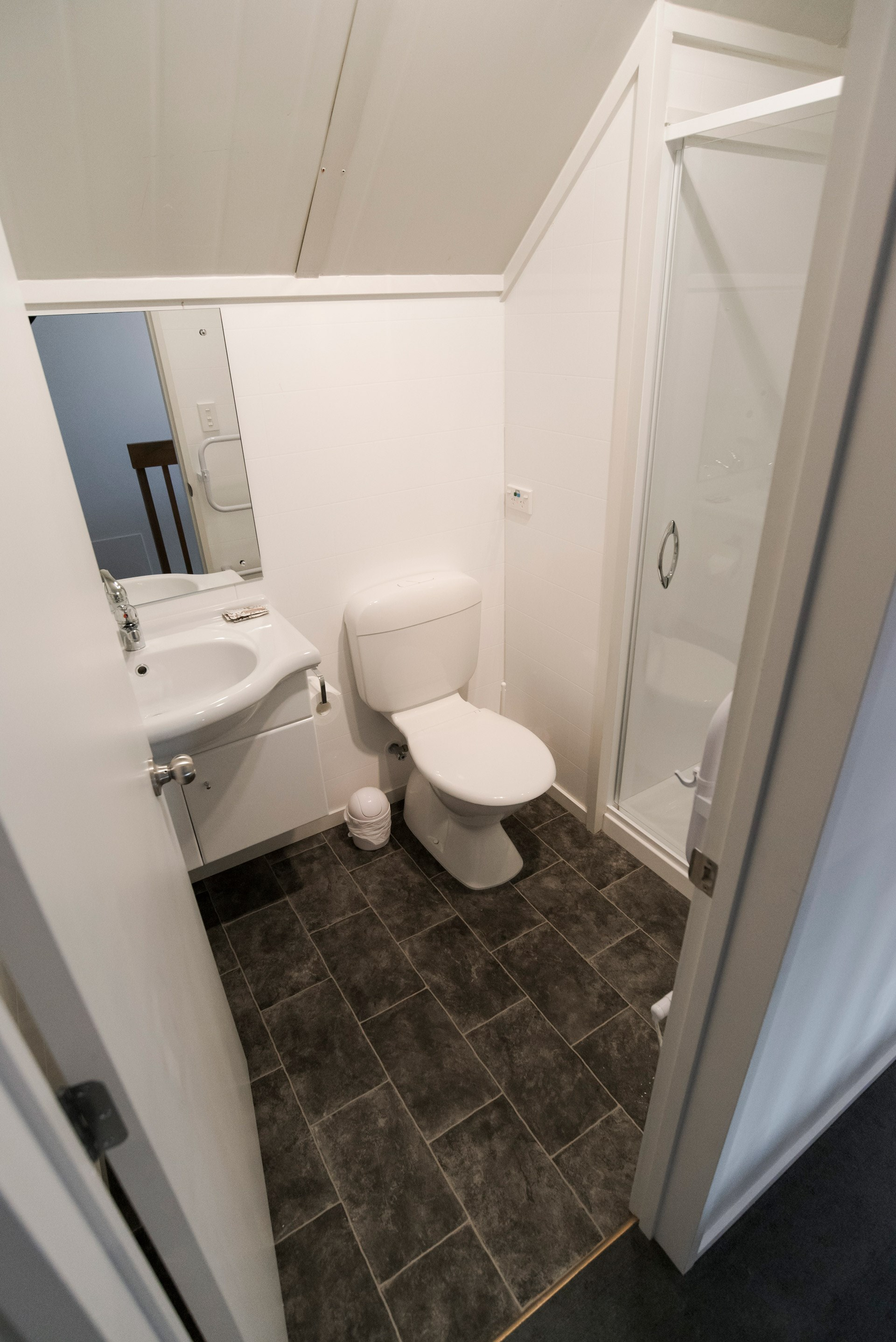 Mountain apartment toilet