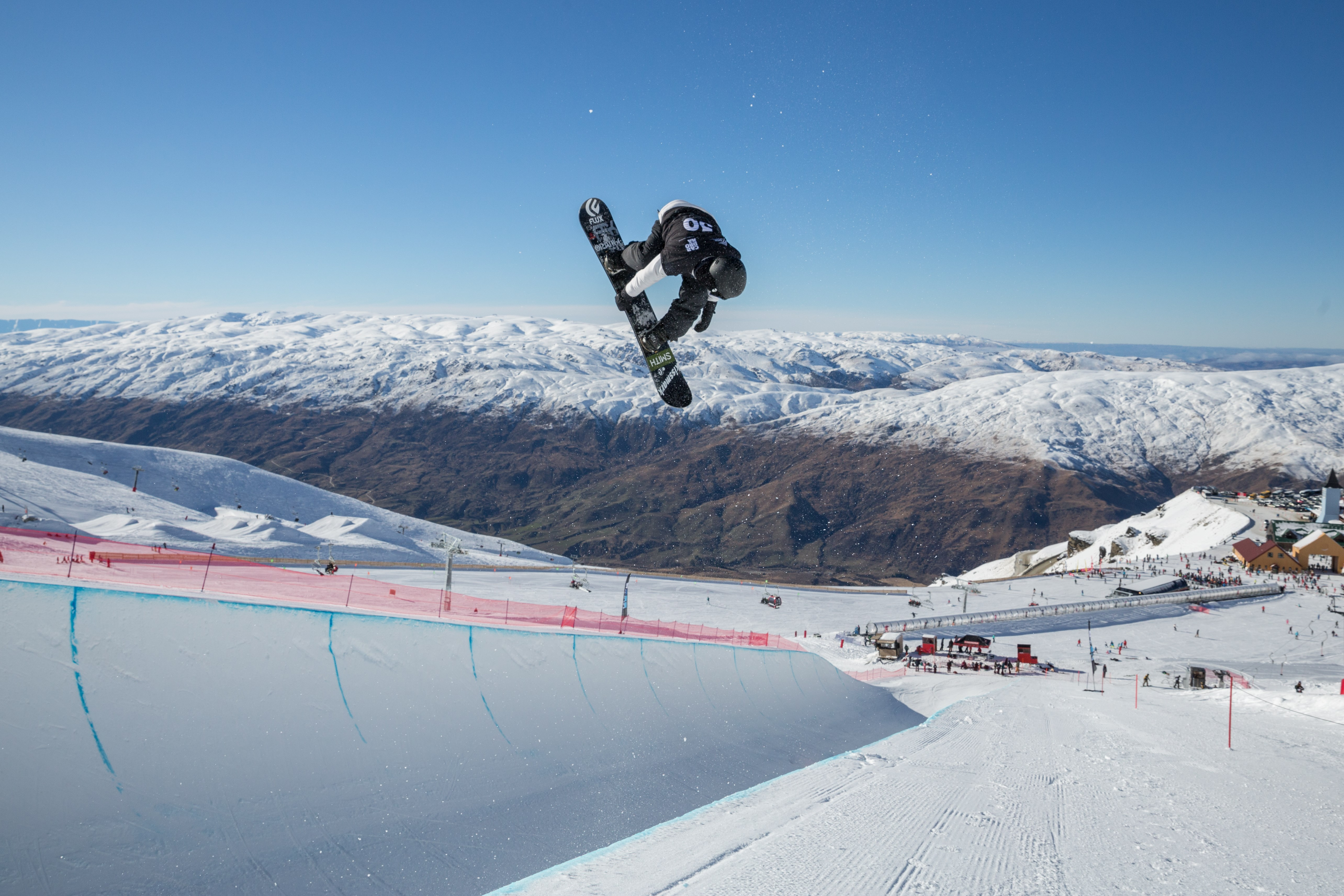 snowboard halfpipe at the audi quattro winter games nz at Cardrona