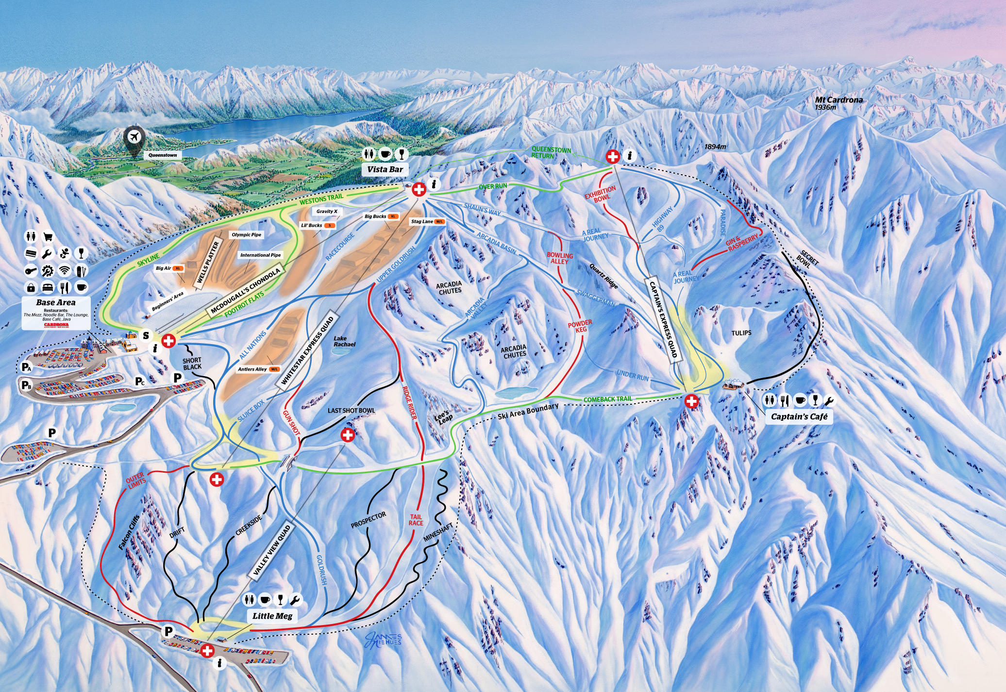 cardrona ski area trail map