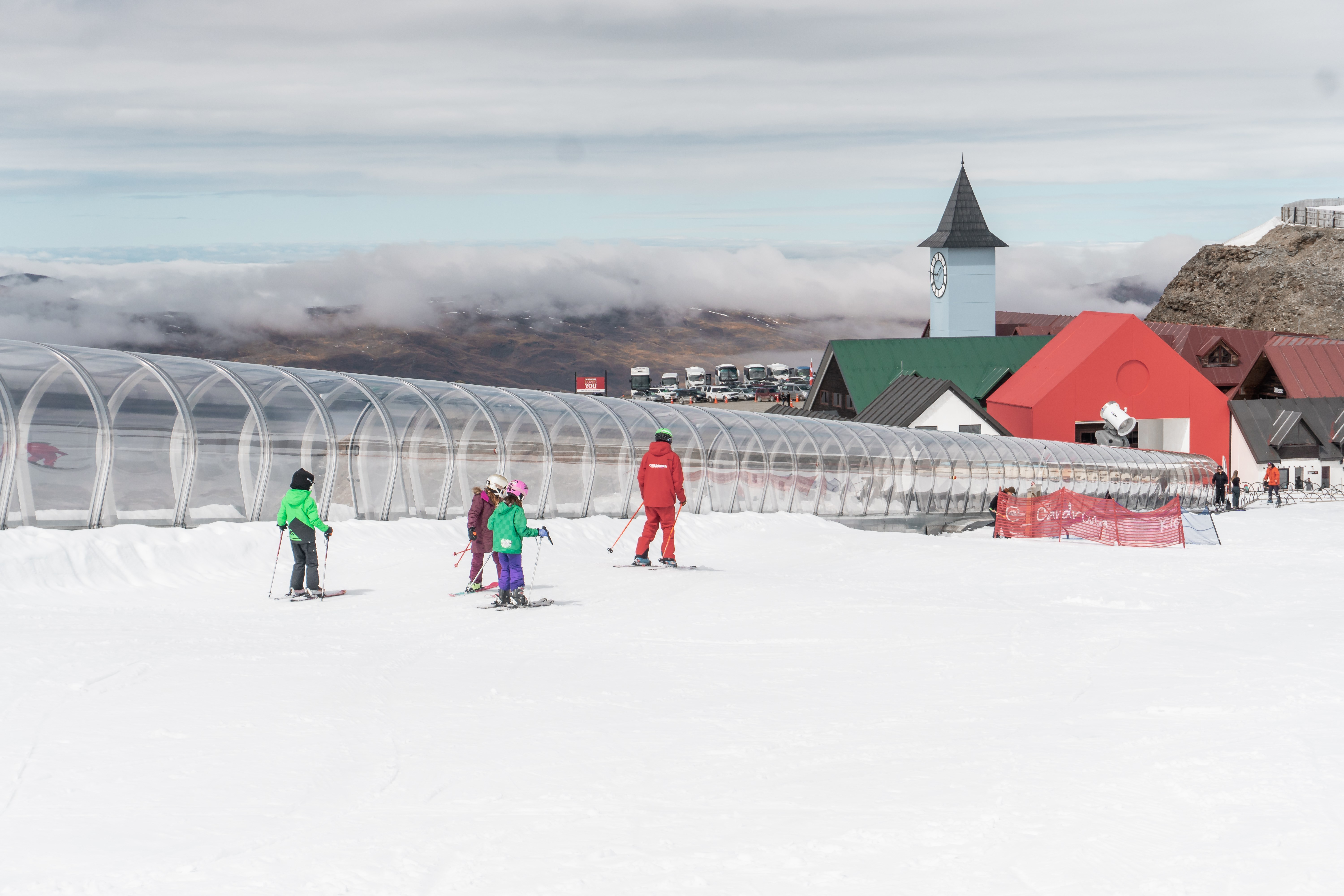 summer first timer ski lessons at cardrona on summer opening weekend