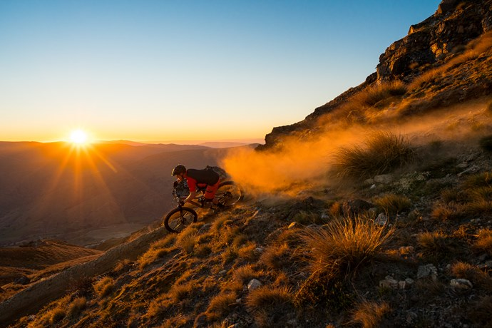 TGIF friday night mountain biking at cardrona bike park nz