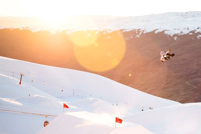 Cardrona Snowboard ski Parks Jump snow winter New Zealand