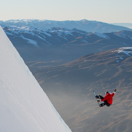 Cardrona ski snowboard snow pipes park New Zealand