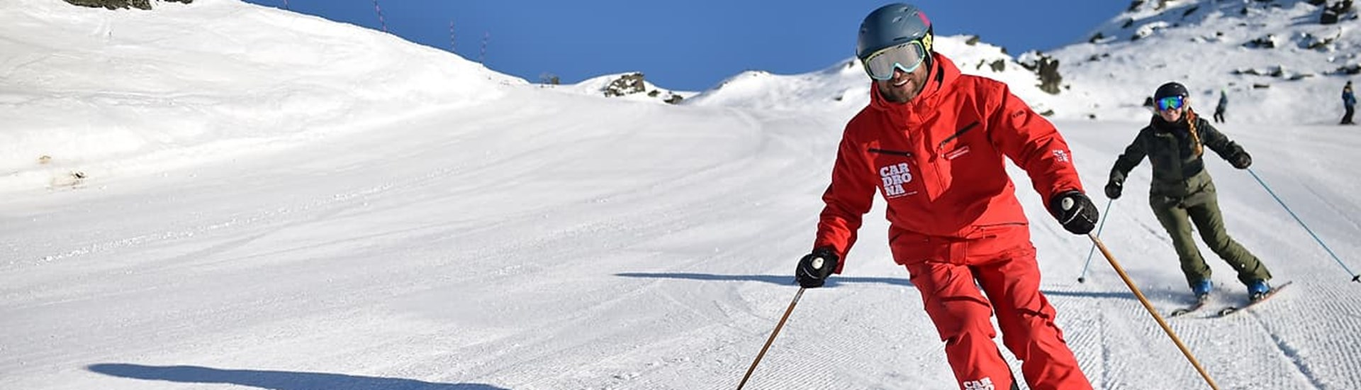Cardrona ski snowboard private lessons winter New Zealand
