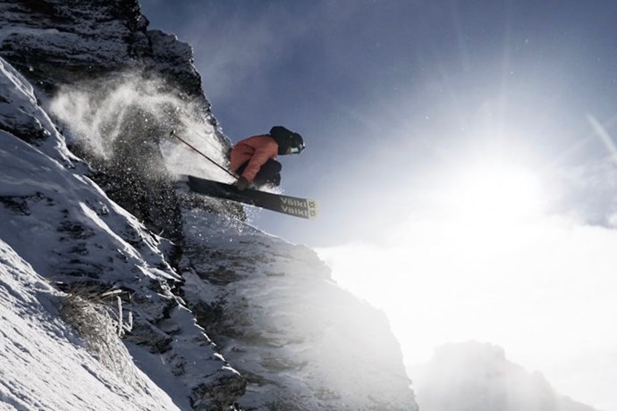 cardrona skier jumping off rock matt sweet