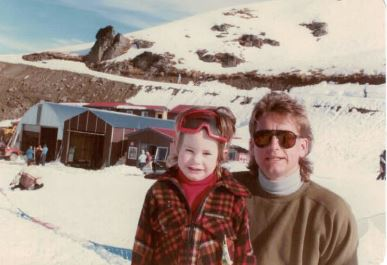 Cardrona 1984. Sam from Nom*d, father & brother.