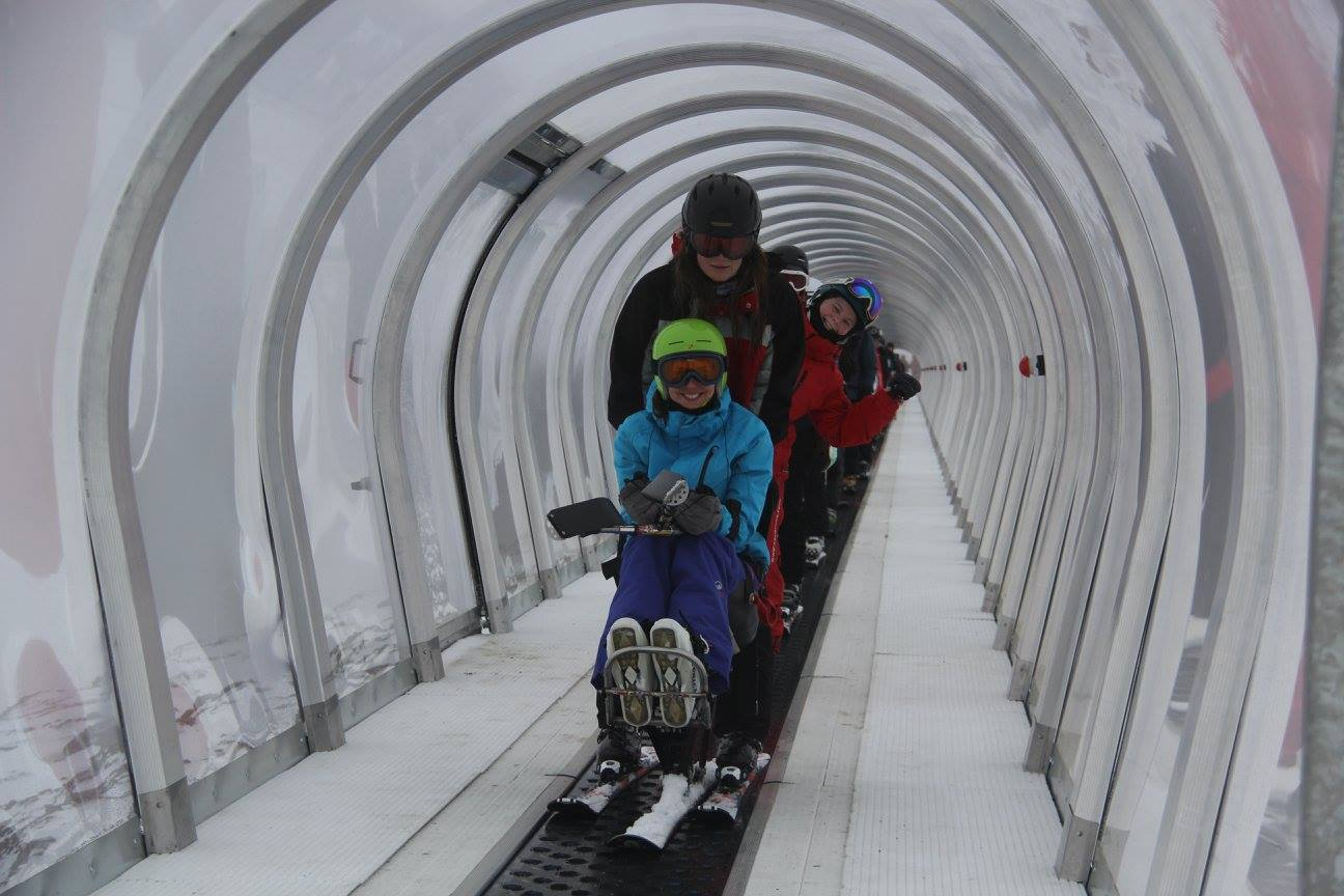 Cardrona ski snowboard lessons winter New Zealand adaptive ski school