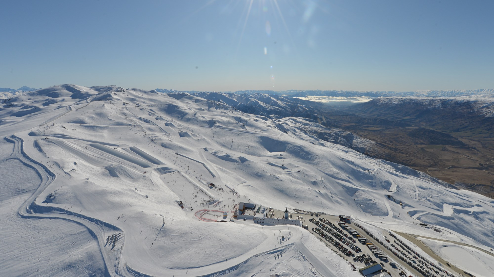 Cardrona Alpine Resort arial view