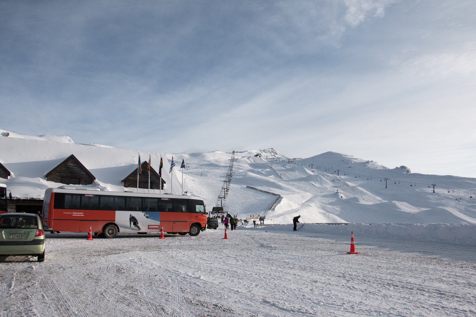 Cardrona Alpine Resort- Main basin - Skiing in New Zealand- Beginner skiing