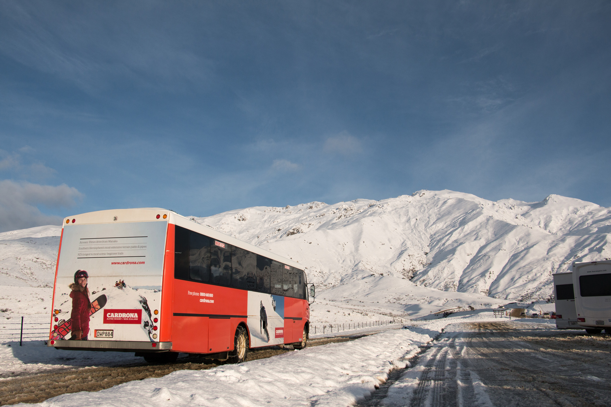 Cardrona-Queenstown ski field-Mountain Transport-bus