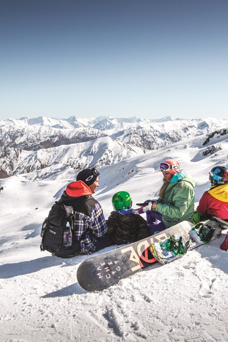 family ski snowboard holiday in queenstown and wanaka