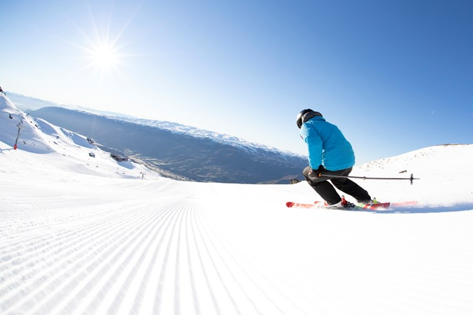 spring skiing at cardrona new zealand