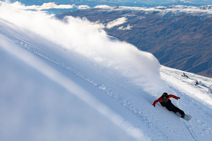 Cardrona carving ski snowboard winter New Zealand